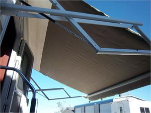 Yes, we install awnings. We fix roofs. We install RV air conditioners. We rework the insides. We rework the outsides. Come See us!