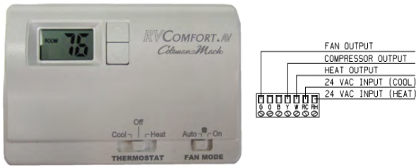 coleman mach thermostat wiring diagram american motorhome rv 5th wheel    coleman       mach    heat cool  american motorhome rv 5th wheel    coleman       mach    heat cool